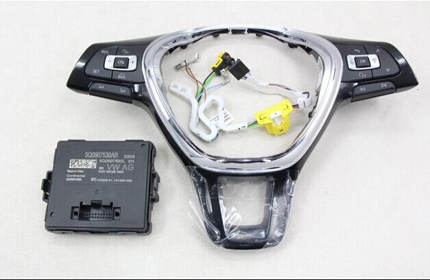 multifunction Steering wheel SWITCH button + gateway + Wire harness  FOR Volkswagen VW Golf 7 MK7  5Q0 907 530 AB<br><br>Aliexpress
