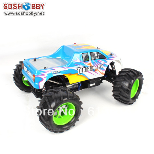 HSP 1/8 Brushless RC Electric Off-Road Truck/ Monster RTR (Model NO.:94083E9) with 4WD System, 2.4G Radio, 11.1V 3600mah Battery(China (Mainland))