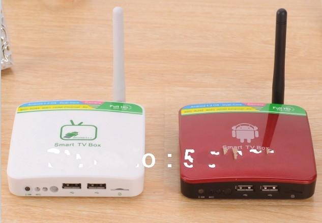 hot 5 PCS NEW GV-11C GV-11D Android 4.2.2 TV Box Mini PC HDMI A20 Dual-Core 1GB RAM 4GB Built-in Camera + Mic wifi RJ45(China (Mainland))