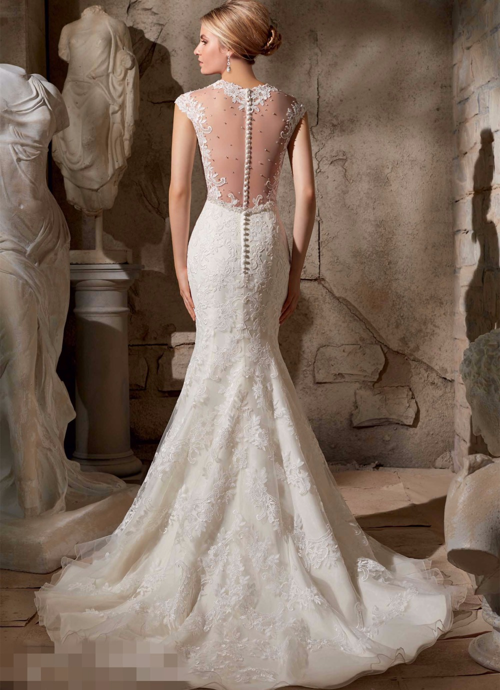 Deep V Neck Wedding Dresses 60