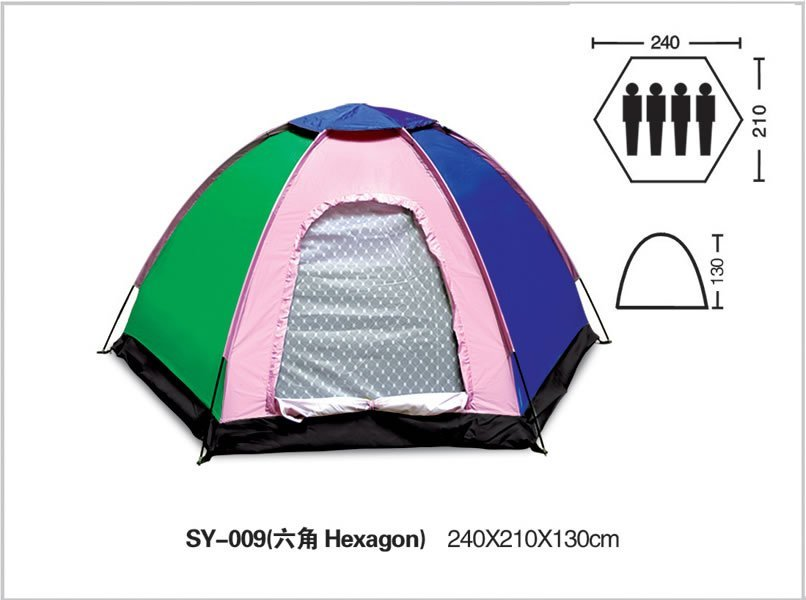 Free Shipping+Fast Delivery+Free shipping 180T ployester PU coating waterproof 2000mm 4 person dome camping tent