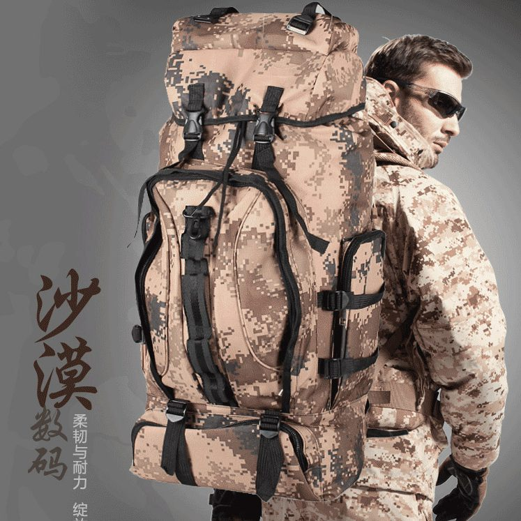 Outdoor hiking mountaineering backpack travel bag large capacity Camouflage tactical - ZSG SHOES / JINSUJINKUN FOOD EQUIPMENT CO.,LTD store
