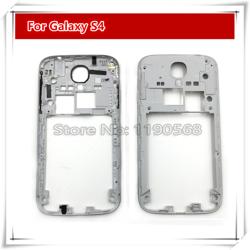 New Silver Middle Frame Housing Case Replacement Part Bezel For Samsung Galaxy S4 I9500 I337 i9505 M919(China (Mainland))