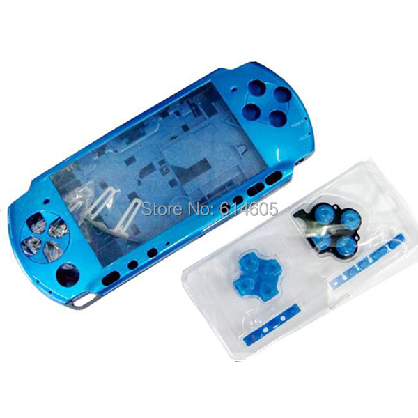 Blue Full Housing Shell Faceplate Case Repair Replacement for Sony PSP 3000 Console(China (Mainland))