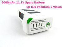 2015 New Arrival High Quality 6000mAh 11.1V Spare Battery For DJI Phantom 2 Vision Quadcopter 66.6wh 10c Free Shipping