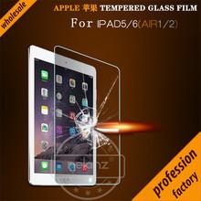 Filme protetor de tela de vidro temperado 9 h para ipad air 2 para apple ipad 5 para ipad 6 película protetora protetor de tela para ipad air(China (Mainland))