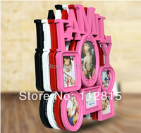 2014 new Rustic fashion brief personalized family one piece combination photo frame vintage plastic photo frame wall mounted