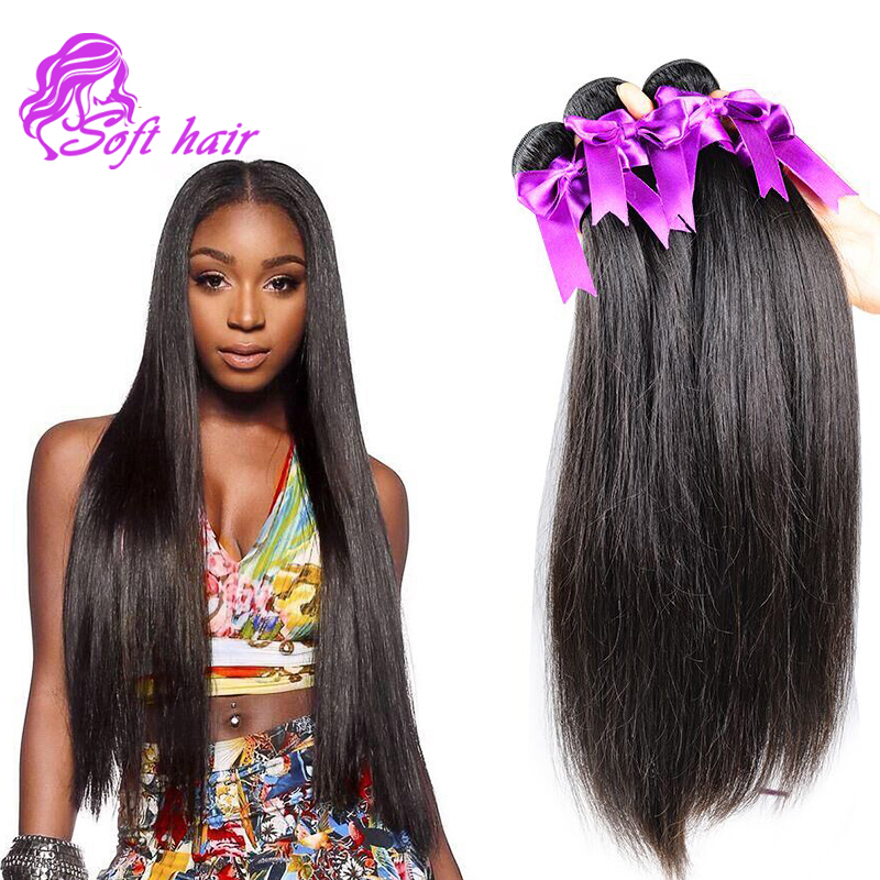 Wholesale 10A Malaysian Straight Hair Weave 4 Pcs Human ...