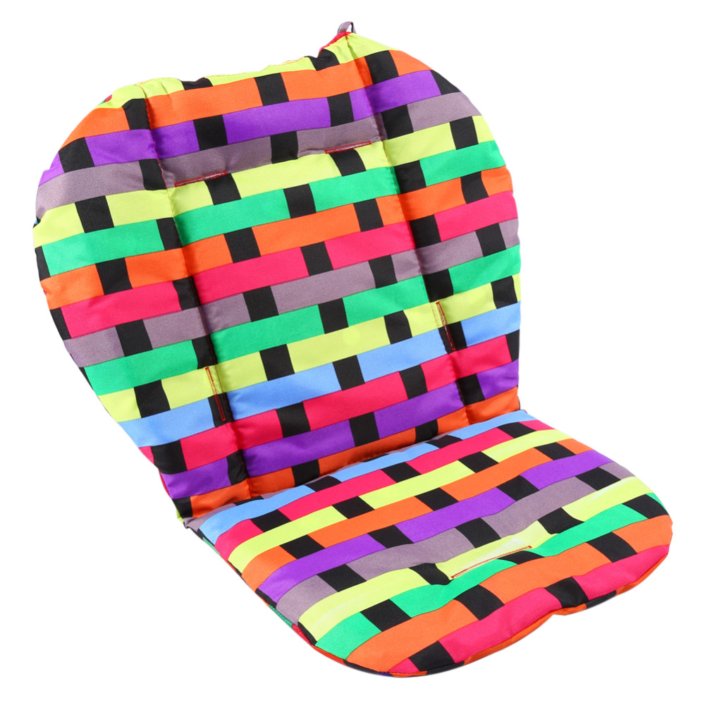 Colorful Baby Infant Mat Breathable Baby Stroller Pram Pushchair Liner Padding Mat Car Seat Chair Cushion(Hong Kong)