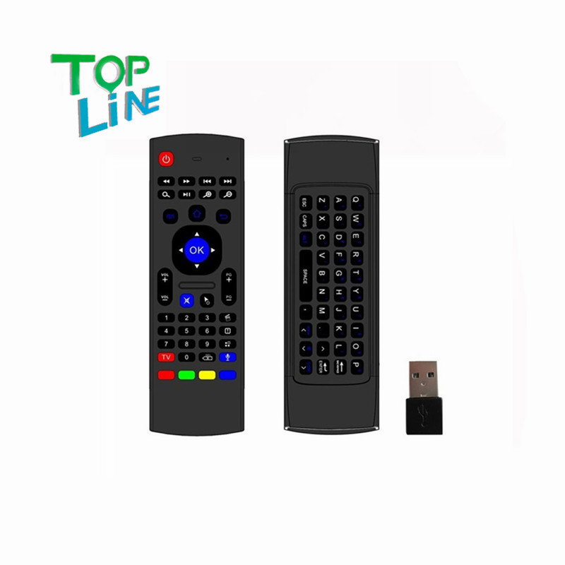 ANEWKODI 2.4GHz IR Remote Control Air Mouse Wireless Flying Double Keyboard Microphone Voice for XBMC Android Mini PC TV Box(China (Mainland))