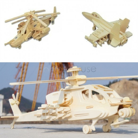 2015 Intelligent wooden airplane models kit baby learning educational toys gifts for children Kids 12(China (Mainland))
