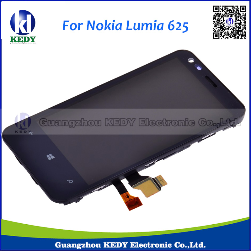 China Supplier Original LCD For Nokia Lumia 620 lcd display with touch screen digitizer Assembly with frame(China (Mainland))