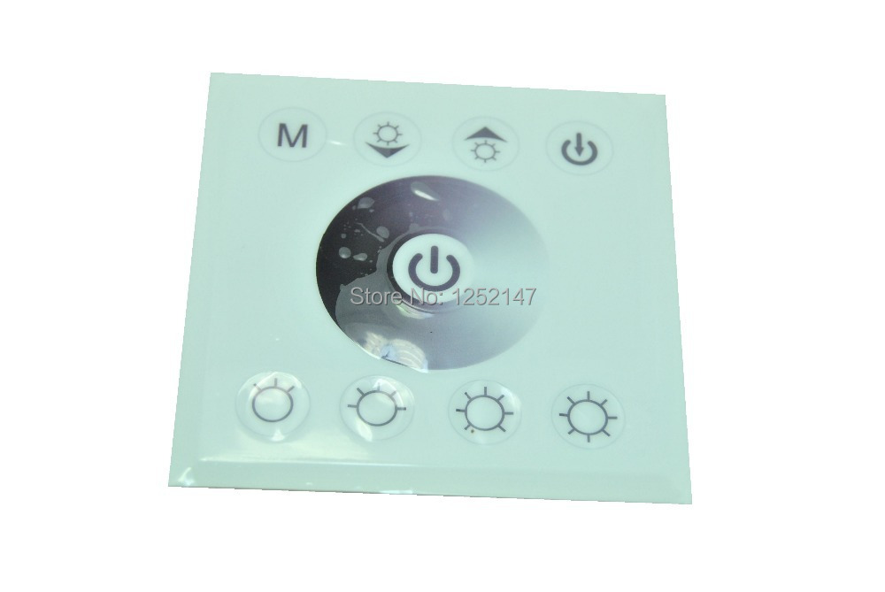 Free shipping DC 12-24V 8A 2 channels wall mounted single color Touch pannel LED controller for single color LED light(China (Mainland))