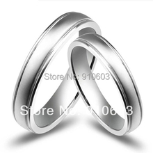 Simple Pure Gold Couples Rings With No Diamond Engagement Ring Lover's Gift Not Simulated(China (Mainland))