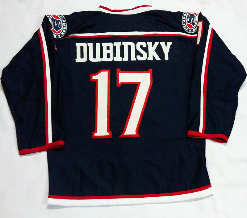 2016 New Columbus Blue Jackets Customized Mens Jerseys #17 Brandon Dubinsky Blue Ice Hockey Jersey 3991