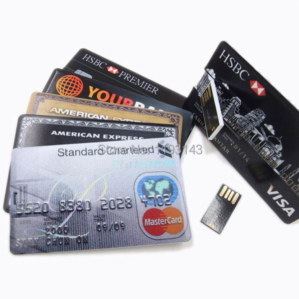 AT27 Bank Credit Card Shape 8GB USB Flash Drive Pen Drive Funny Memory Flash Stick,Drop Shipping+Free Shipping(China (Mainland))