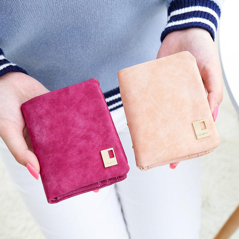 Гаджет  1 X 2015 New Fashion Women Matte Leather Short Clutch Wallet Zipper Hasp Coin Purses Card Holder Small Bag 7 colors None Камера и Сумки