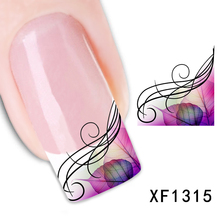 XF1315-Fashion New style Water Transfer Stickers 1 Sheets 3D Design DIY Nail Art Decorations Nail Sticker Nail Decal Nail Tools
