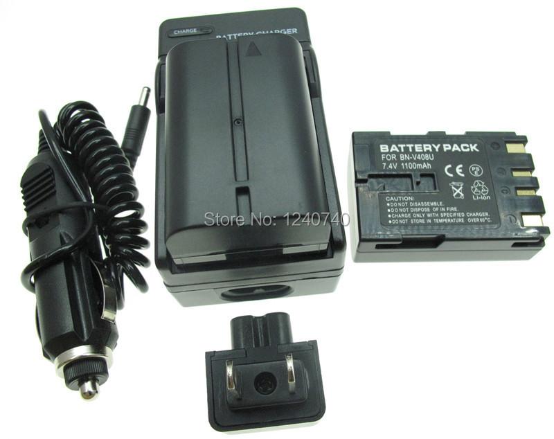 Battery  2 pack   Charger for JVC BN V408U BNV408    GR       D90U