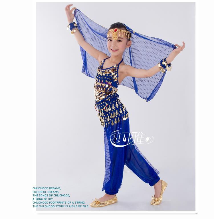 New Handmade Children Belly Dance Costumes Kids Belly ...