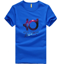 2016 Summer T-shirt New Brand Kevin Durant Basketball Fashion T shirt Jersey Sports Loose Best Letter KD Men Tops Tee Basic Wear