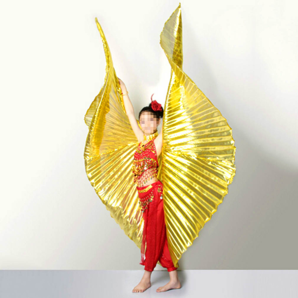 Top Quality Belly Dance Fan Wings Egypt Dancing Golden Winged Bellydance Performance Silver Wing Belly Dance Accessories(China (Mainland))