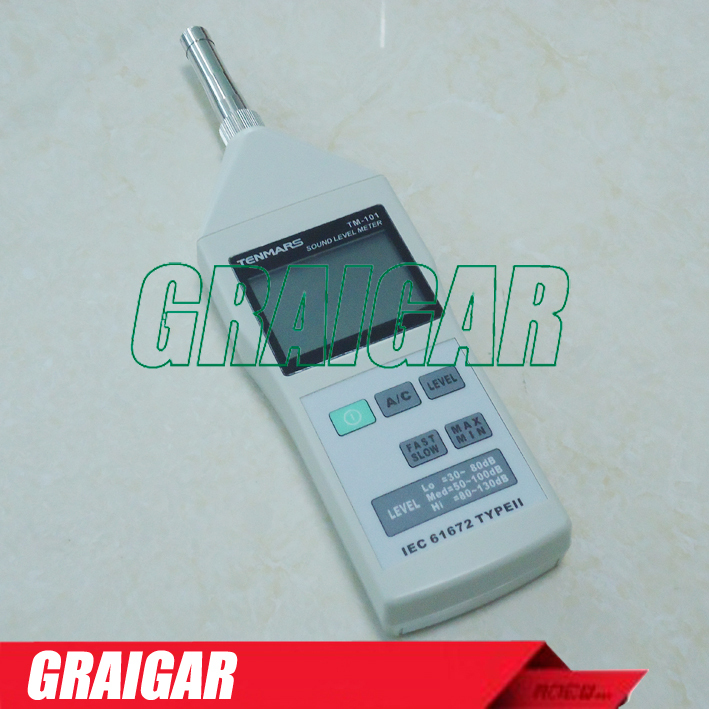 Sound Level Meter IEC 61672, Type II . LO, MED, HI ranges. AC/DC signal output TM-101<br><br>Aliexpress