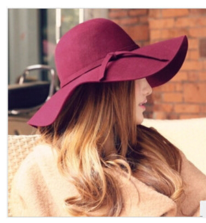 Hot sale summer fashion women sun hats 6 colors casual sun protection vintage beach wide brimmed
