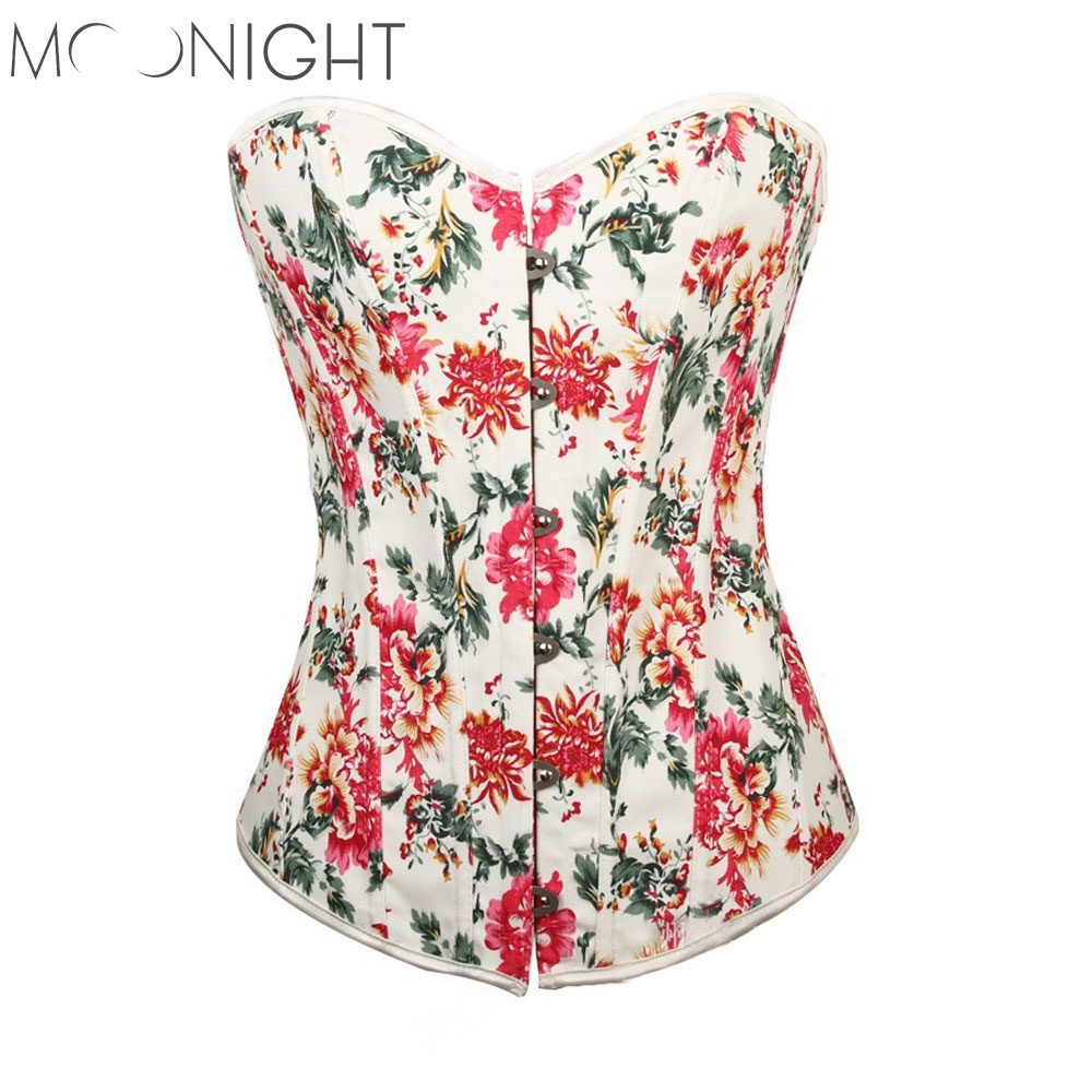 Corsets Statin Floral Lace