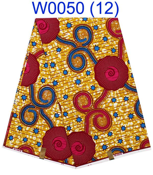 High Quality Nigeria Fabric Guaranteed dutch wax african super wax hollandais,new designer african fabric W0050-12(China (Mainland))