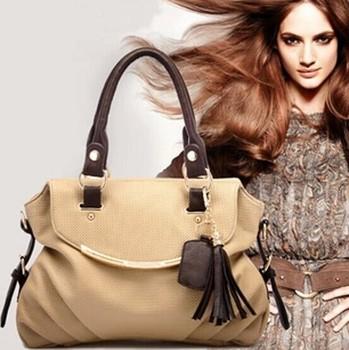 Hot high grade woman tassel Leather Handbag Tote Shoulder Bags Woman HandBag five colors wholesale free shipping