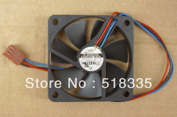 Free Shipping ADDA AD0612HB-G76 6010 6cm 60*60*10mm 60mm12V 0.15A CPU Cooler Fan for INTEL 370 P3 CPU Fan Cooling Fan(China (Mainland))