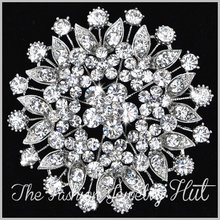 12PCS/lot Large Crystal Brooch Flower