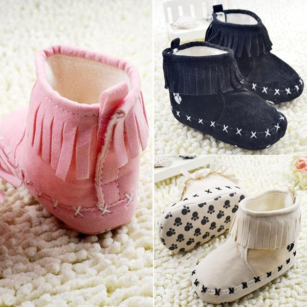 Girl Snow Boots Girl Soft Bottom Winter Warm Baby Infant Boots Shoes Prewalker For Free Shipping<br><br>Aliexpress