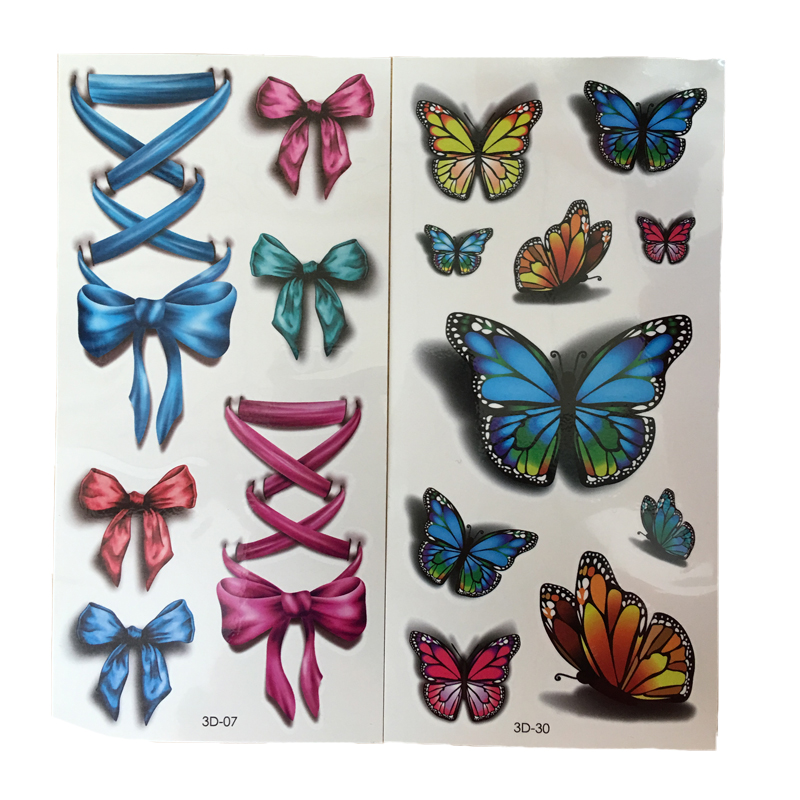 2PCS Waterproof Temporary Tattoo Sticker For Body Art Sexy Waist Water Transfer Tattoos Decal Colorful Fake Tattoos(China (Mainland))
