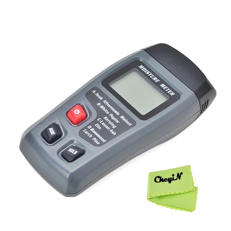 Range 0 99 9 2Pins Digital LCD Display Wood Moisture Meter Humidity Tester Timber Damp Detector