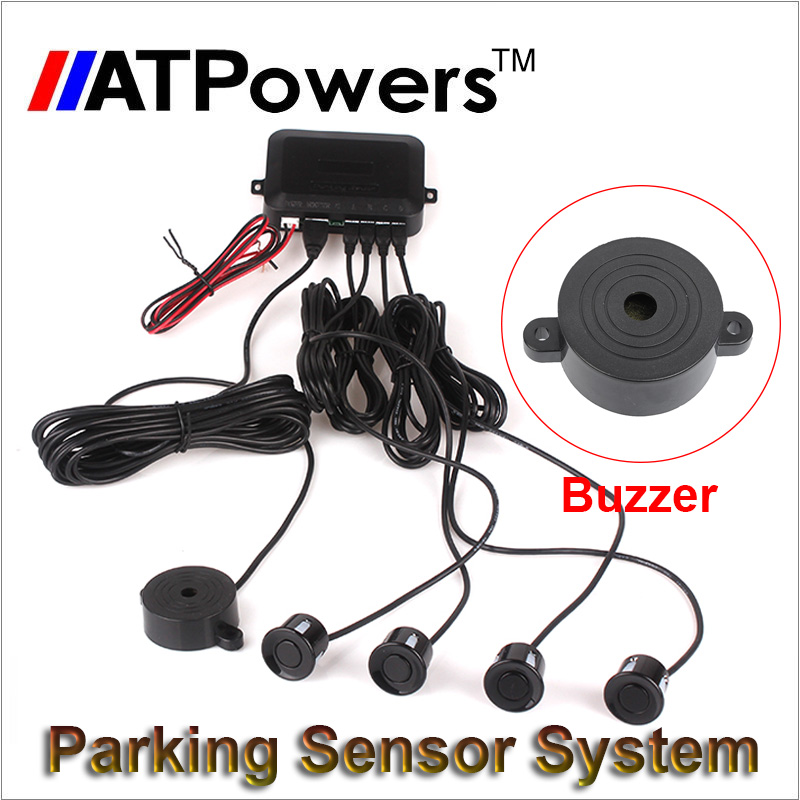 Buzzer Car Parking Park Sensor System Reversing Assistance Assist Backup Radar Sound Alert Accessories XD-058 + 4 Sensors(China (Mainland))