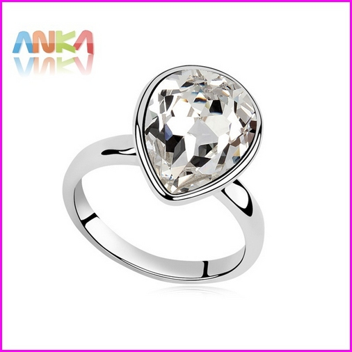 2015 Time-limited Sale Trendy Vintage Fine Jewelry Sterling 18k Gp Made With Swarovski Elements Crystal Tatiana Ring #96806(China (Mainland))