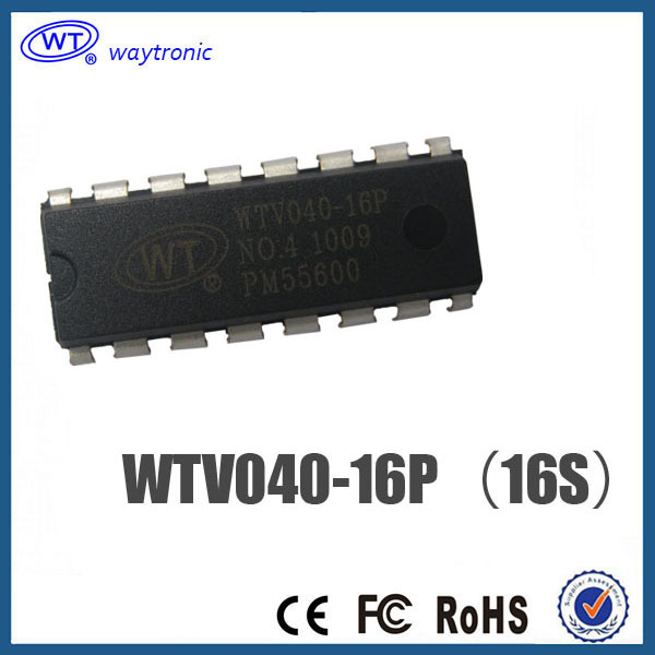 Free Shipping WTV040 voice chip OTP one time programming programmable MIDI music IC chip SOP16(China (Mainland))