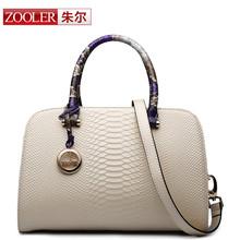 ZOOLER Women leather bag bags handbags women famous brands Desigual Serpentine grain Shoulder Bag Authentic top
