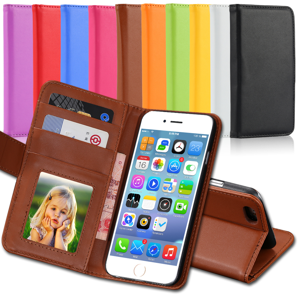 4s 5s Luxury PU Leather Case Photo Frame Flip Cover For Iphone 5 5S 5G 4 4s 4g Full Protect Wallet Bag Card Insert Carry Case(China (Mainland))