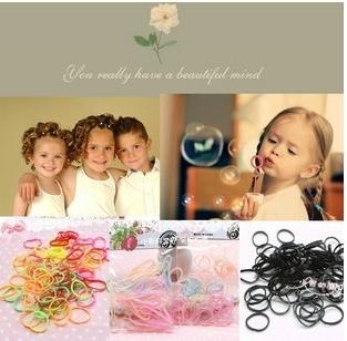 2015 Pretty Quality Band Hair Accessories ponytail holder Chic Children Baby Girls kids Free shipping Wedding(China (Mainland))