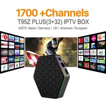 Buy Octa Core Android Arab IPTV BOX T95ZPLUS Free 1700 Europe Arabic IPTV Channels S912 3GB/32GB TV Box KODI WIFI H265 Media Player for $96.42 in AliExpress store