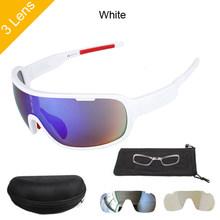 NEWBOLER Sport kolarstwo okulary 5 soczewki spolaryzowane okulary przeciwsłoneczne na rower górski rower okulary dla mężczyzn kobiety gafas óculos ciclismo(China)