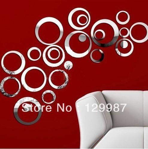 Diy acrílico espelho de parede adesivo decoração decoração de casa(China (Mainland))