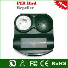 Outdoor Solar Power 3-Sound Mode Safe Harmless PIR Sensor Animal Bats Birds Repeller Repellent bird control(China (Mainland))