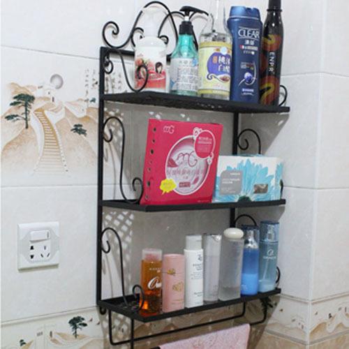 Здесь можно купить  Lang Ching pastoral wrought iron racks bathroom shelves three white towel rack bathroom wall rack black  Строительство и Недвижимость