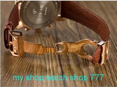 45 мм новая мода ПАРНИС Японский кварцевый механизм розового золота Черный циферблат мужские часы 0260aaa