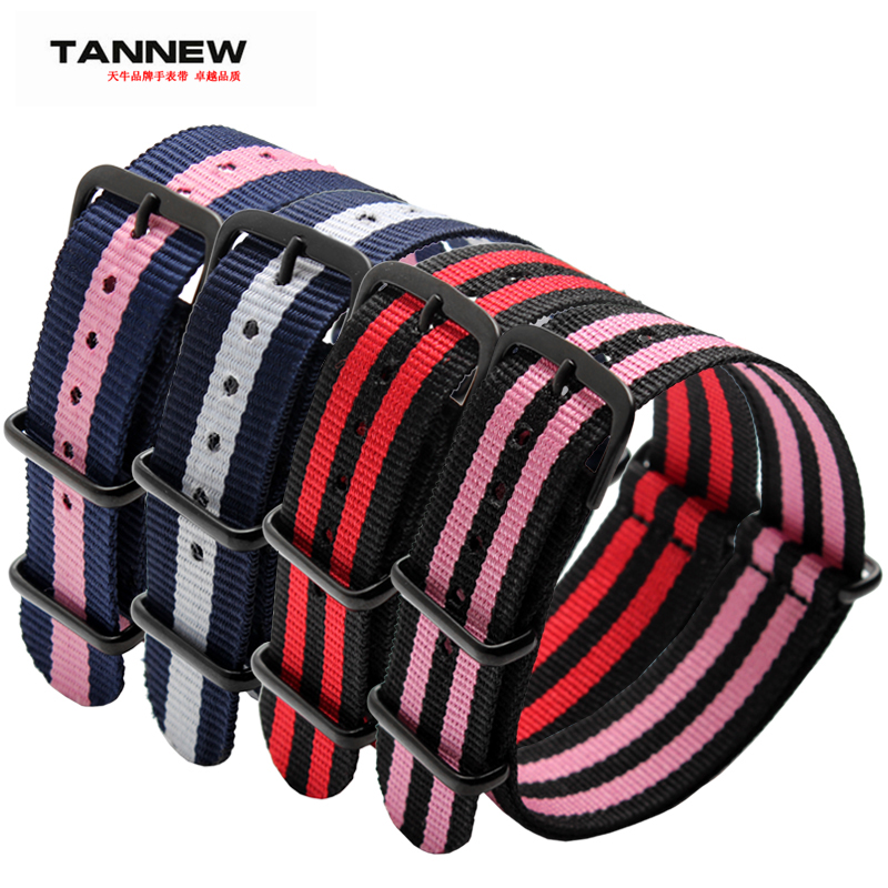 2016 TANNEW new arrived 18mm 20mm 22mm 24mm ultra-thin nylon straps canvas watchband black buckles free shipping(China (Mainland))