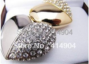 Free Shipping,Jewelry Heart Shape USB Pen Drive16gb ,Crystal Heart USB Memory Disk,Crystal USB Disk 8G/32G,memor stick